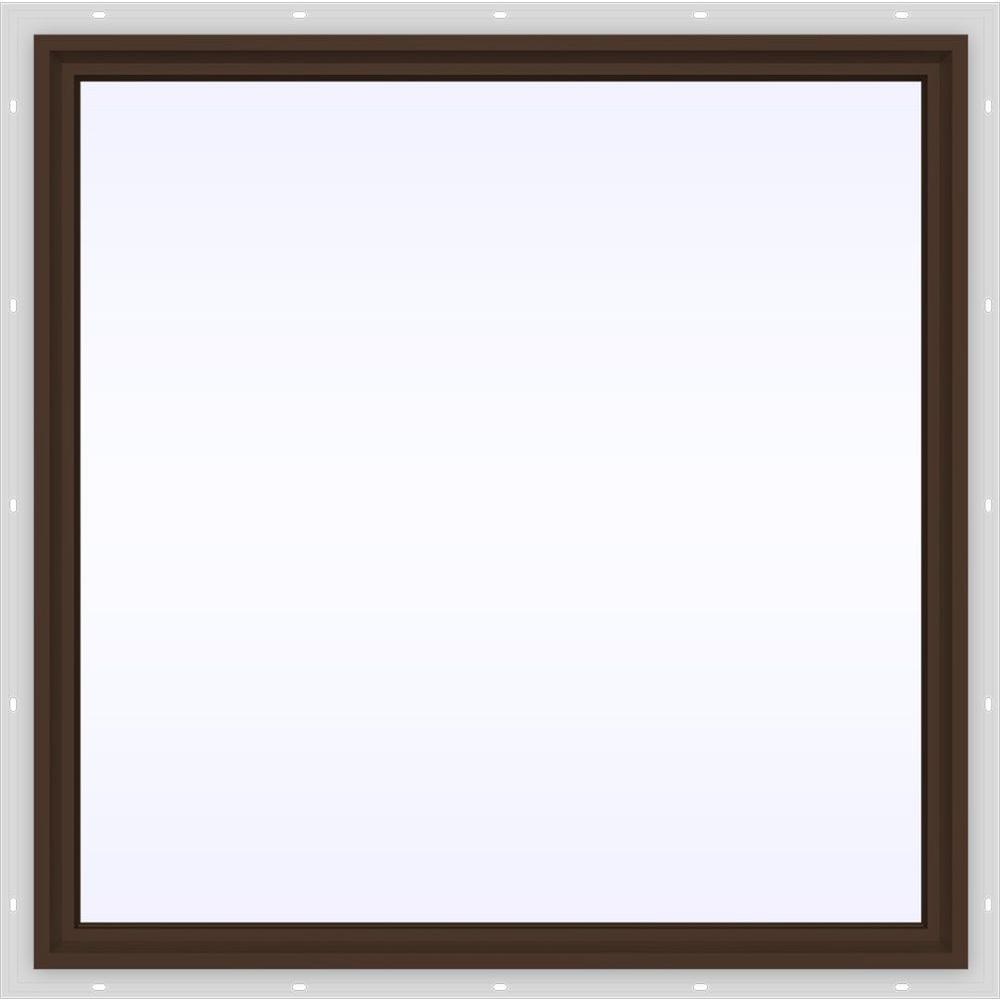 JELD-WEN 47.5 in. x 47.5 in. V-4500 Series Fixed Picture Vinyl Window in Brown