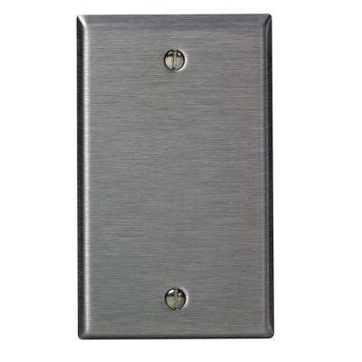 1-Gang No Device Blank Wallplate, Standard Size, 302 Stainless Steel, Box Mount, Stainless Steel