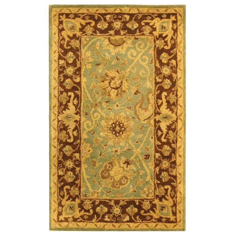 Safavieh Antiquity Green/Brown 3 Ft. X 5 Ft. Area Rug