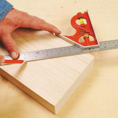 12 in. Combination Square with Zinc Head and Stainless Steel Blade