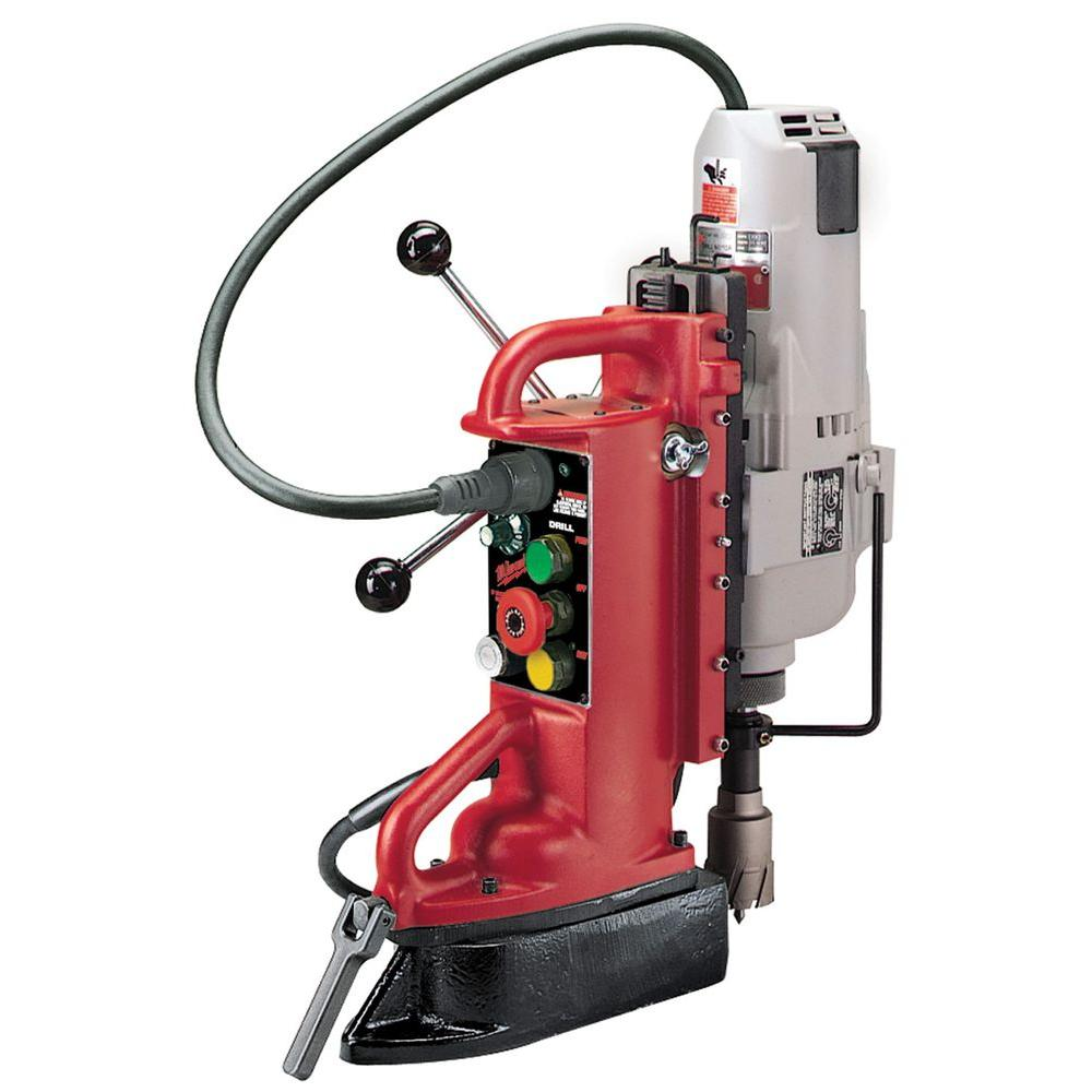 Milwaukee Electro-Magnetic Adjustable Position Drill Press with # 3 Morse  Motor-4208-1 - The Home Depot