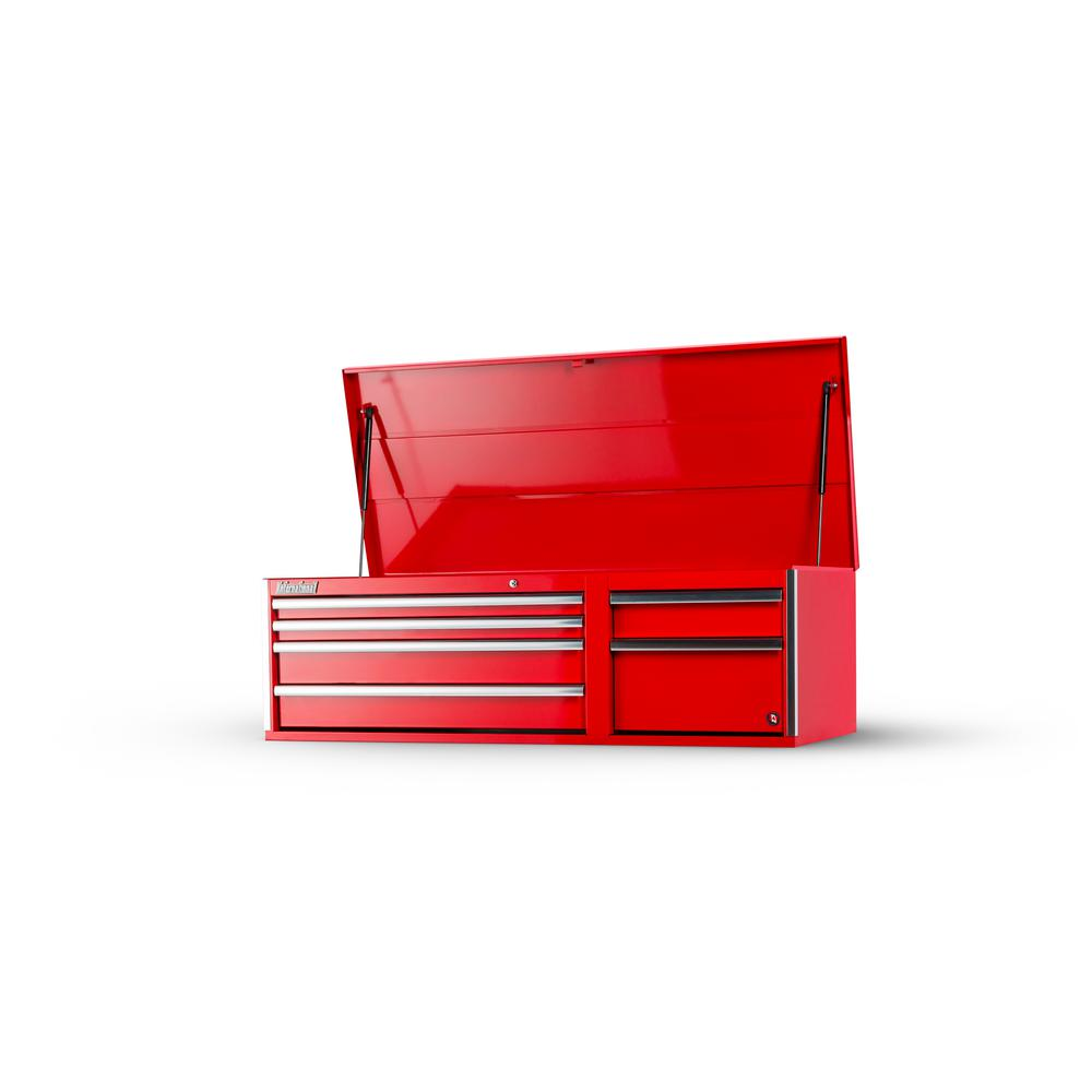 Tech Series 56 in. 6-Drawer Top Chest, Red