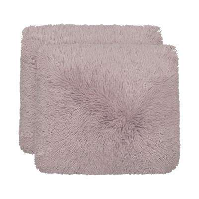 Alexus 18 in x 18 in. Dusty Lilac Pillow (2-Pack)