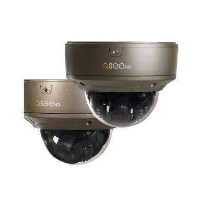 Indoor/Outdoor 4MP Dome IP Security Camera (2-Pack)