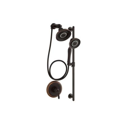 Devonshire 3-Spray Round Performance Showering Package in Oil-Rubbed Bronze (Valve Not Included)