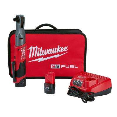 M12 FUEL 12-Volt Lithium-Ion Brushless Cordless 1/2 in. Ratchet Kit