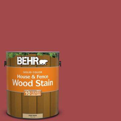 1 gal. #ICC-107 Crimson Solid Color House and Fence Exterior Wood Stain