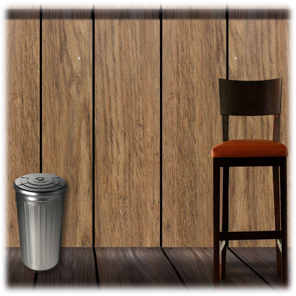 Brown Oak Grain Self-Adhesive Wallpaper Sample