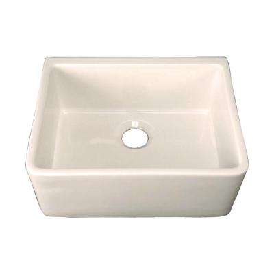 Brooke Apron Front Fireclay 23 in. Single Bowl Kitchen Sink in Bisque