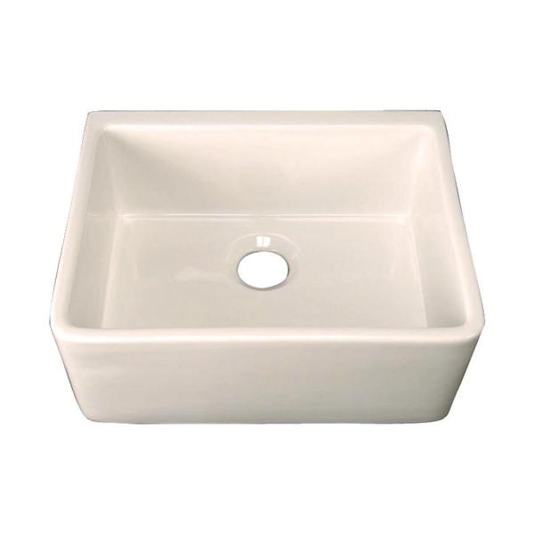 Brooke Farmhouse Apron Front Fireclay 23 in. Single Bowl Kitchen Sink in Bisque