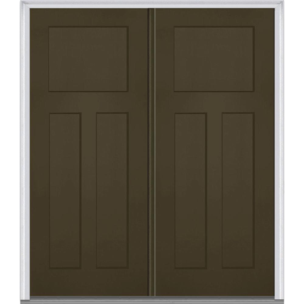 Mmi door 72 in x 80 in left hand inswing craftsman 3 for 72 x 80 exterior door