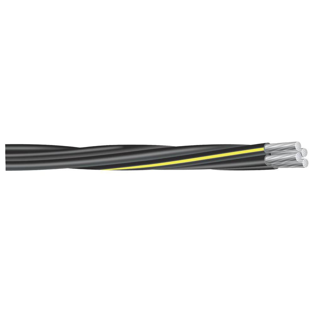 Southwire By The Foot 2 2 2 4 Black Stranded Al Quad Dyke Urd Cable 55417399 The Home Depot