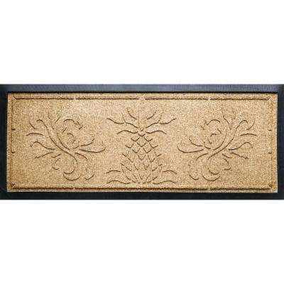 Gold 15 in. x 36 in. x 0.5 in. Pineapple Boot Tray