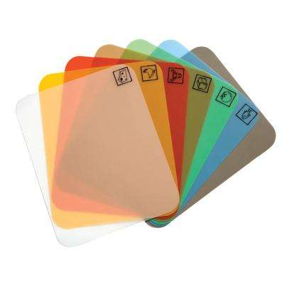 7-Piece Bamboo Cutting Board with Multi-Color Mats