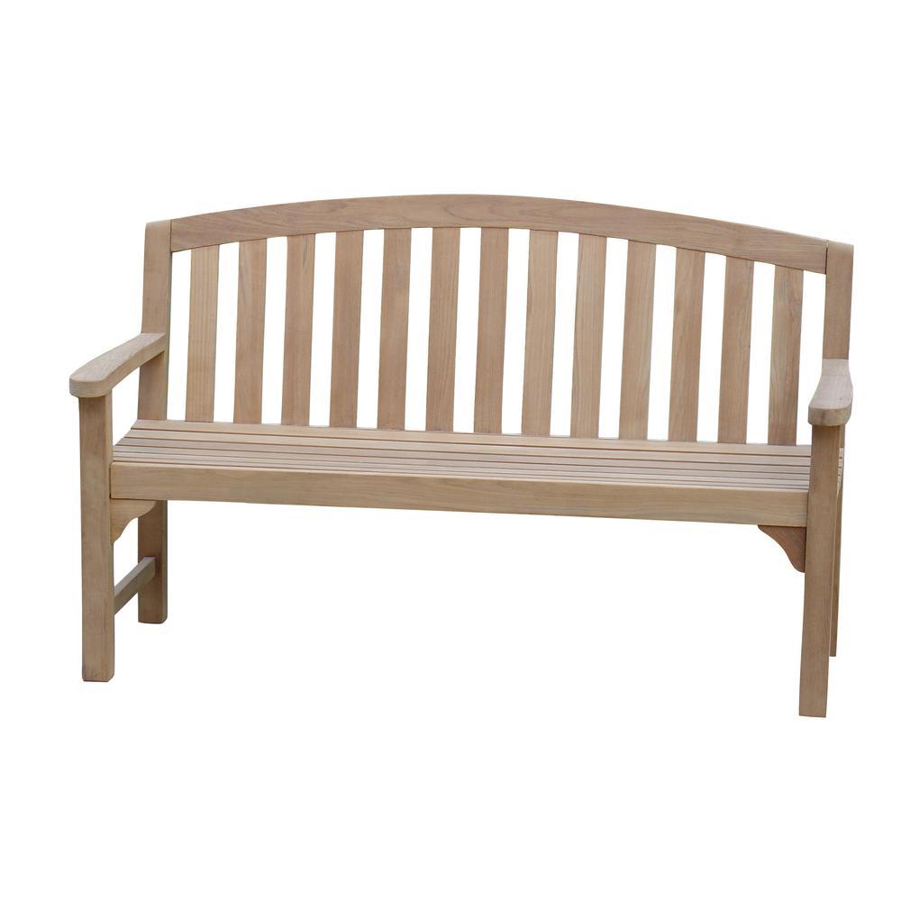 5 Ft Natural Teakwood Outdoor Bench