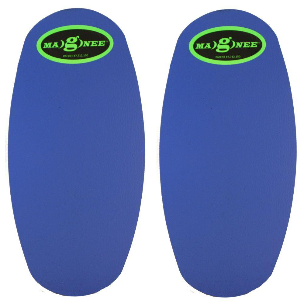 Blue Standard Strapless Magnetic Attaching Knee Pads