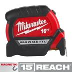16 ft. x 1 in. Compact Magnetic Tape Measure with 15 ft. Reach