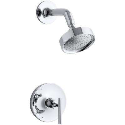 Purist  1-Handle Tub and Shower Faucet Trim Kit with Lever Handle in Polished Chrome (Valve not included)