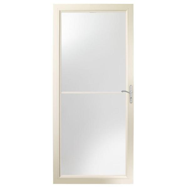 36 in. x 80 in. 2500 Series Almond Universal Self-Storing Aluminum Storm Door with Nickel Hardware