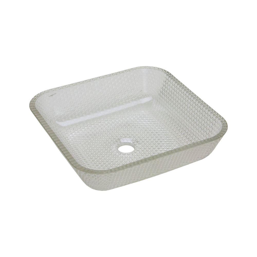 Cubix Vessel Sink in Crystal