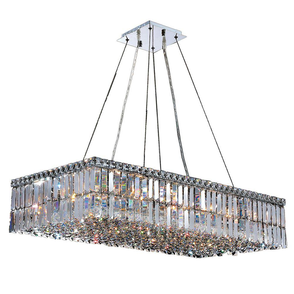 Worldwide lighting cascade collection 16 light polished chrome worldwide lighting cascade collection 16 light polished chrome crystal rectangle chandelier aloadofball Choice Image