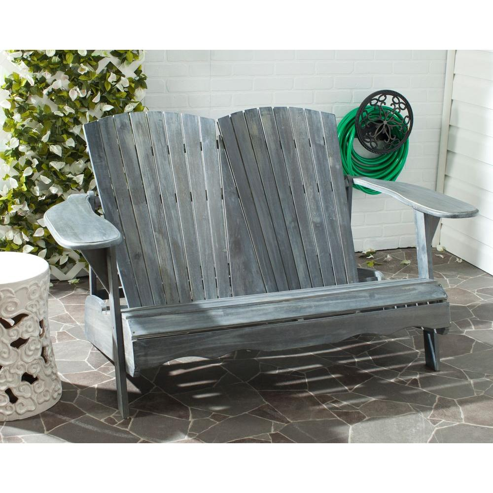 Hantom Ash Grey Acacia Patio Bench