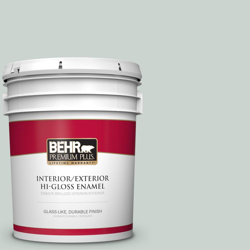 5 gal. #PPU12-11 Salt Glaze Hi-Gloss Enamel Interior/Exterior Paint