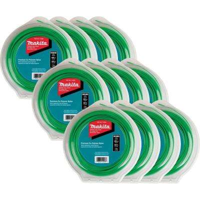 1 lbs. 0.080 in. x 400 ft. Round Trimmer Line in Green (12-Pack)