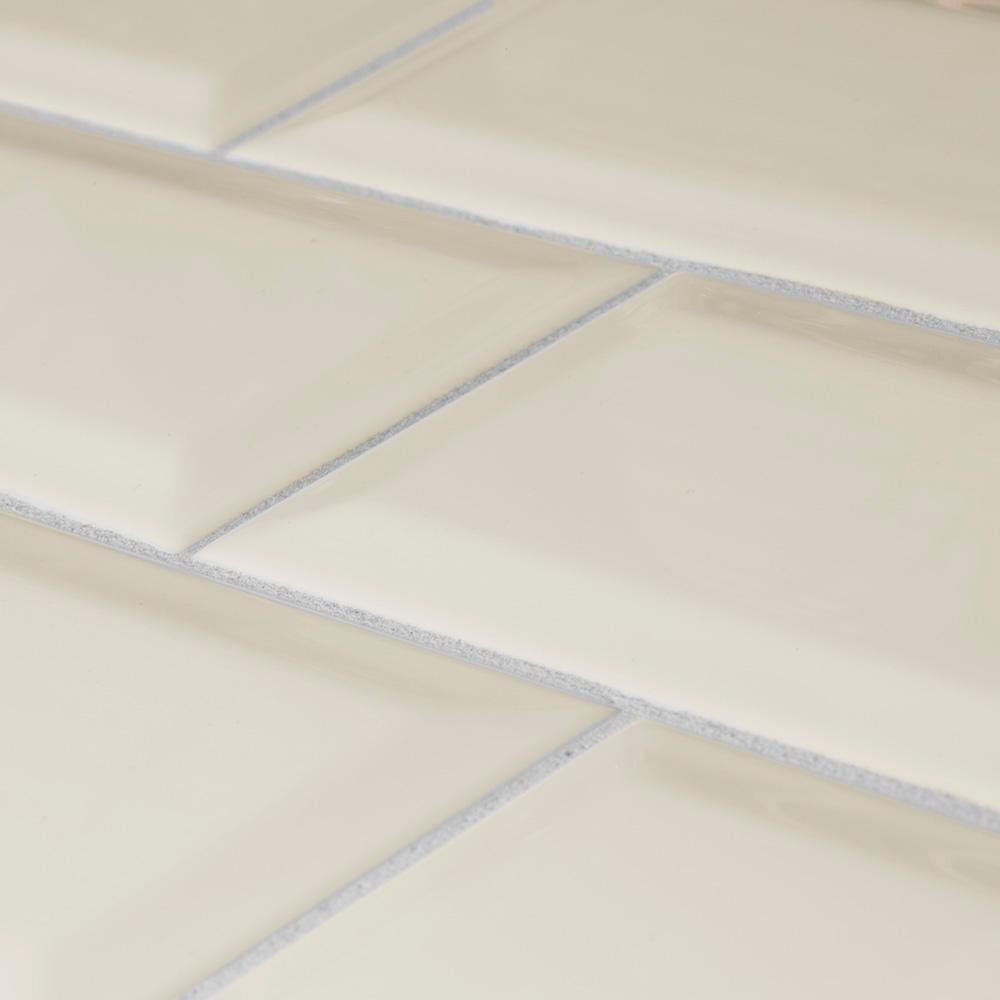 Royal Cream Bevel Glossy Ceramic Wall