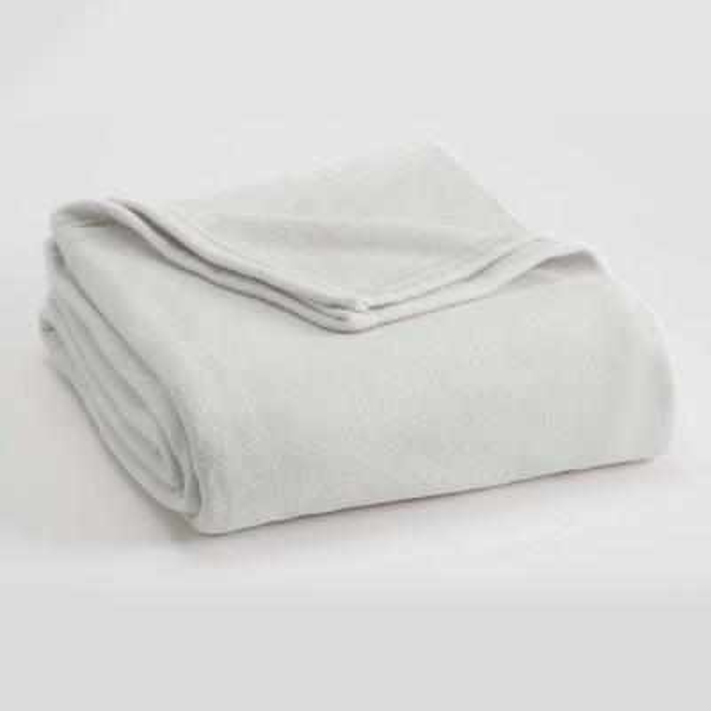 Microfleece Star White Polyester King Blanket