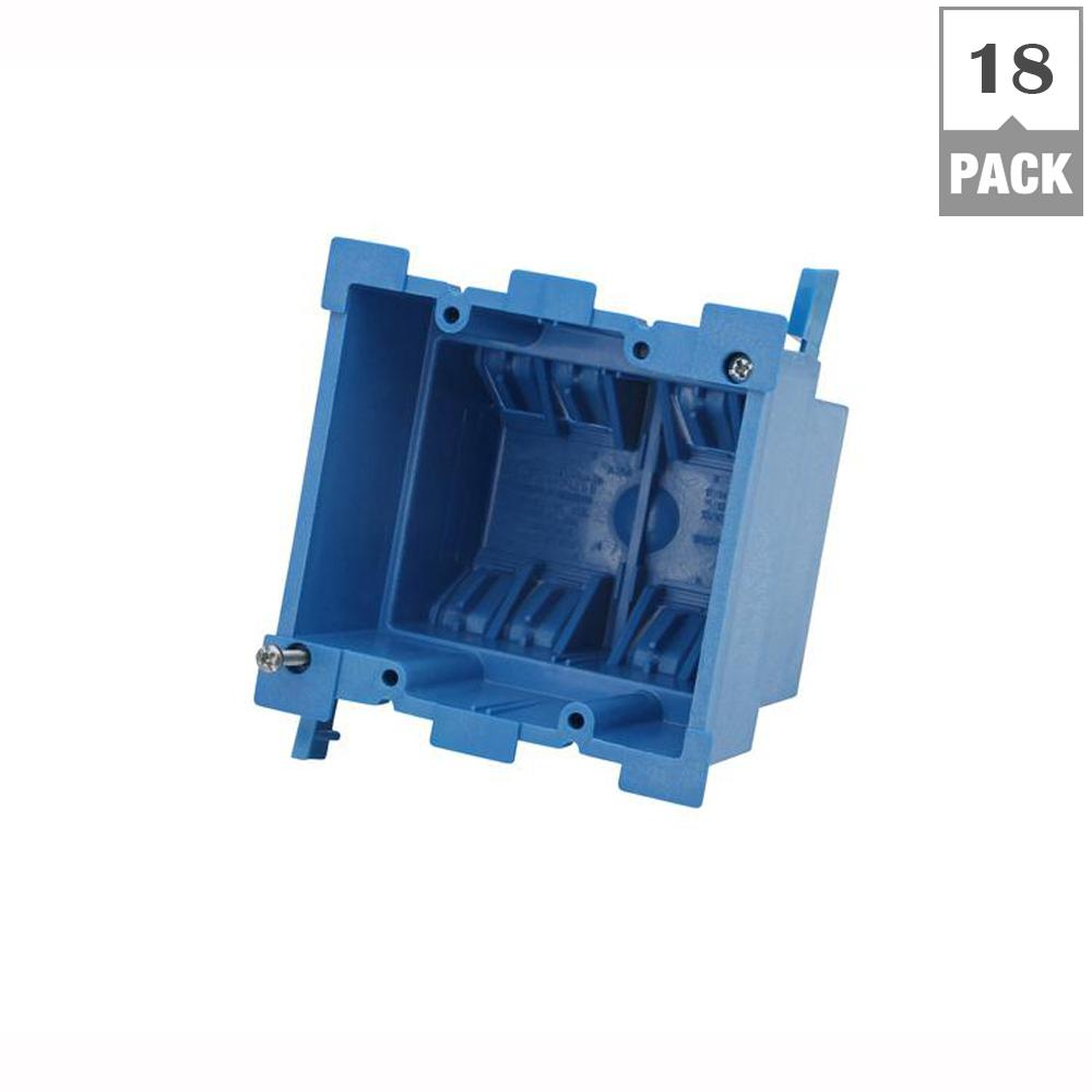 2-Gang 34 cu. in. Old Work PVC Heavy Wall Electrical Box