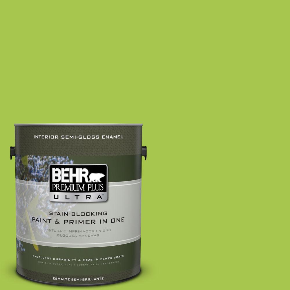1-gal. #420B-5 Sweet Midori Semi-Gloss Enamel Interior Paint