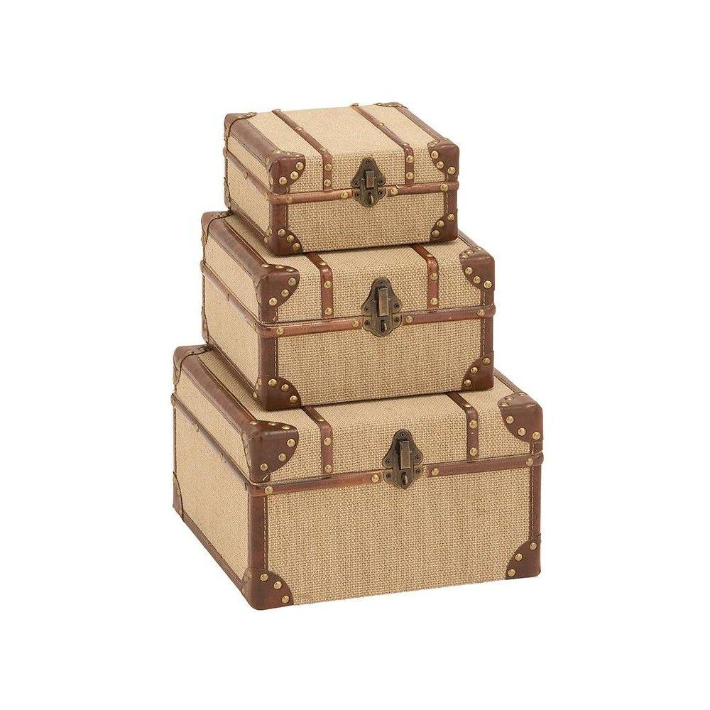 Home Decorators Collection Urbane Tan/Brown Storage Boxes (Set of 3)