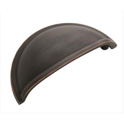 Cup Pulls 3 in. (76 mm) Center-to-Center Oil Rubbed Bronze Cabinet Cup Pull (10-Pack)