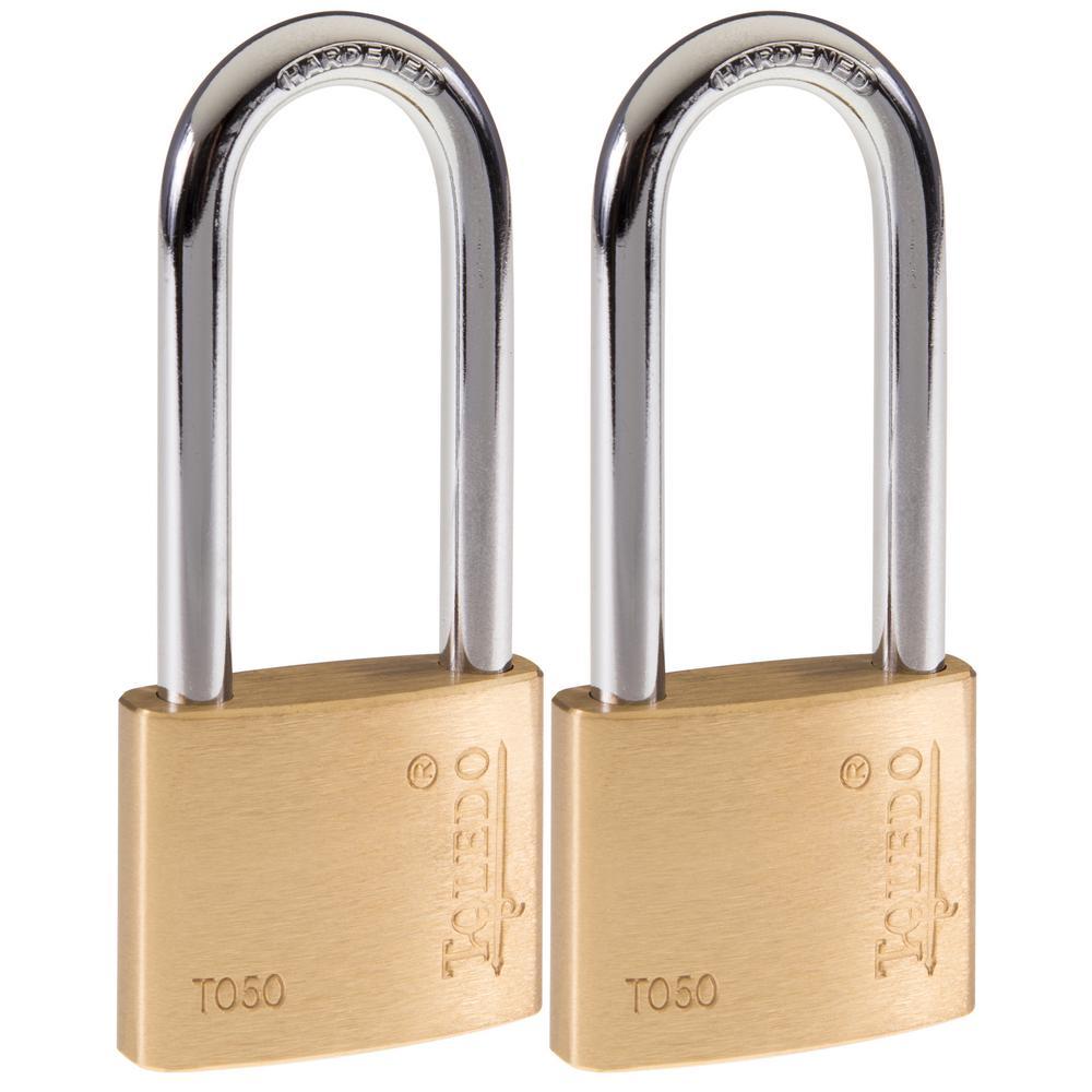 Toledo Fine Locks Brass Keyed Padlock (2-Pack)