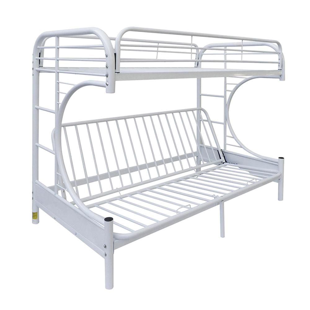 Dorel Living Brady Twin Over Full White Wood Bunk Bed