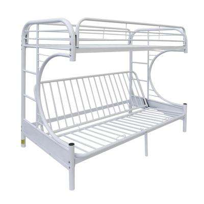 Eclipse Twin Over White Full Metal Kids Bunk Bed