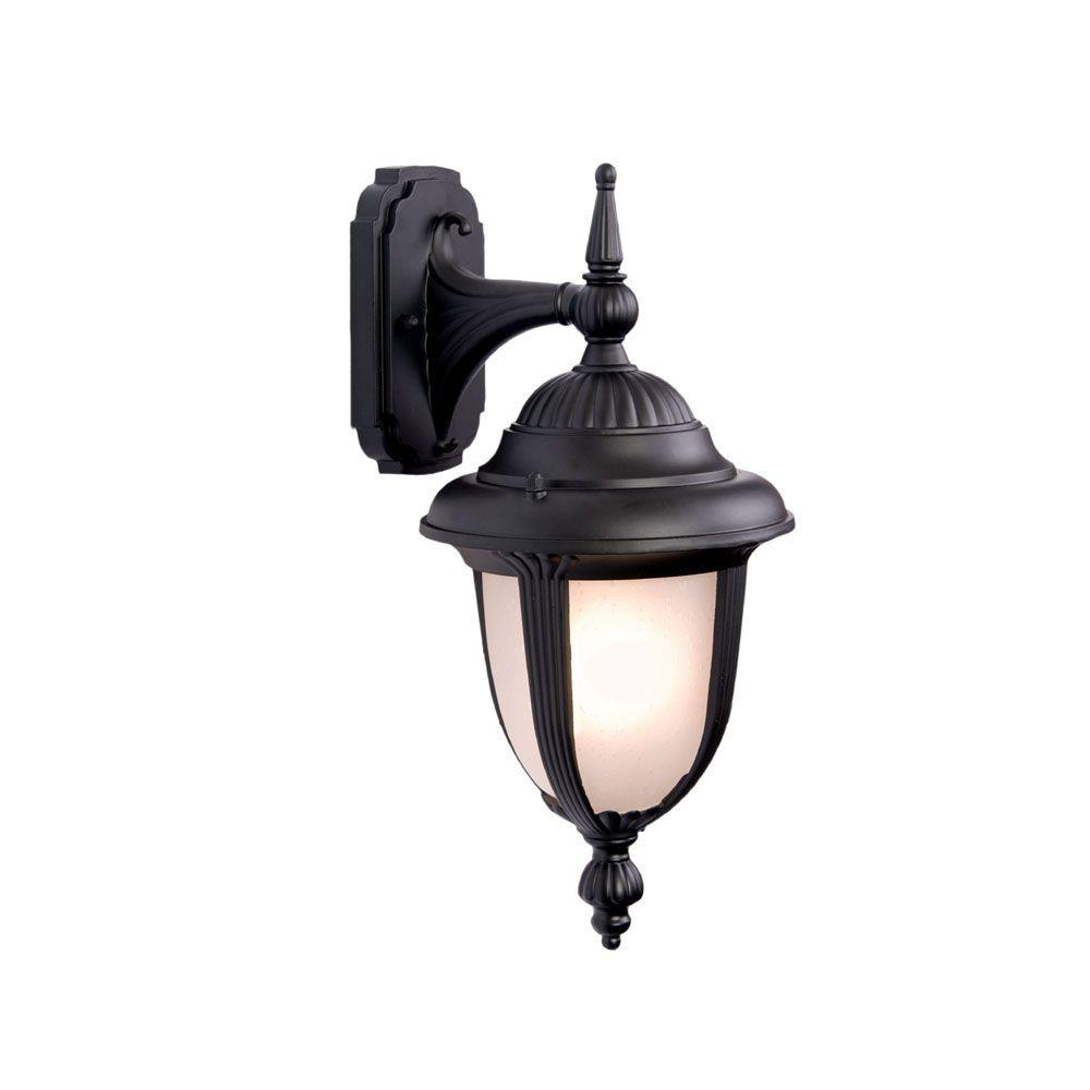 Acclaim Lighting Monterey Collection Wall-Mount 1-Light Outdoor Matte Black Light Fixture
