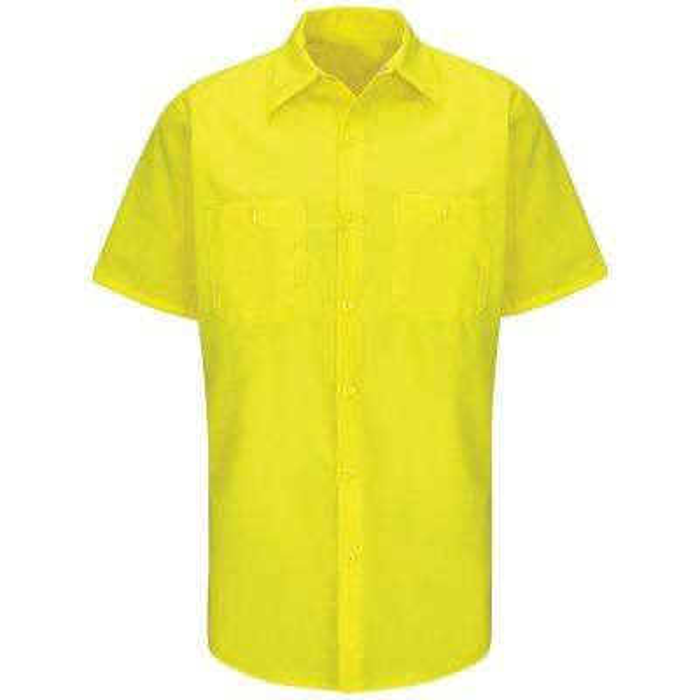 Men's Size L Yellow Rip-Stop Shirt