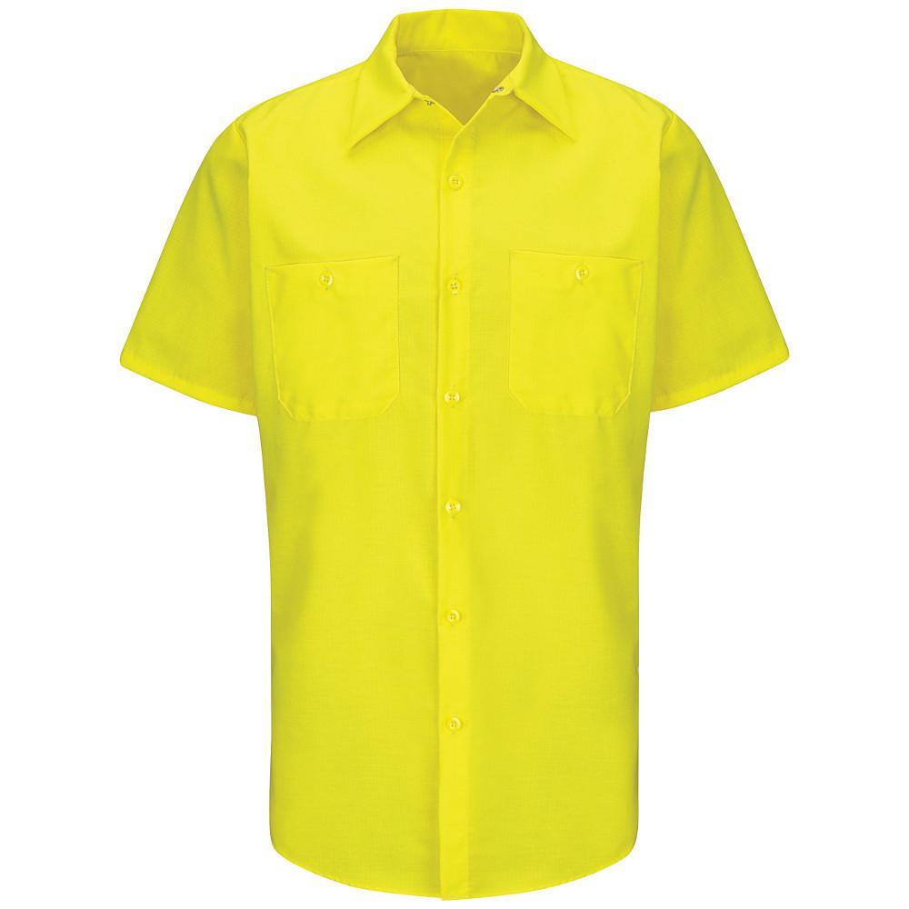 Men's Size 2XL (Tall) Yellow Rip-Stop Shirt