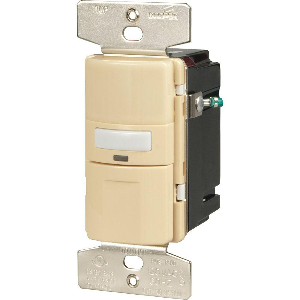 Motion-Activated Occupancy Sensor Wall Switch, Ivory