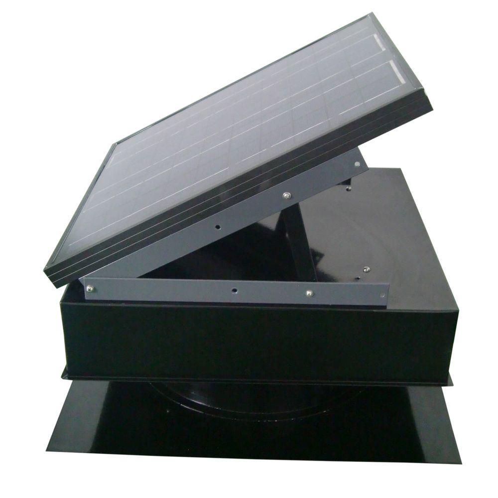 Remington Solar 25-Watt 1450 CFM Black Solar Powered Attic Fan by Remington Solar