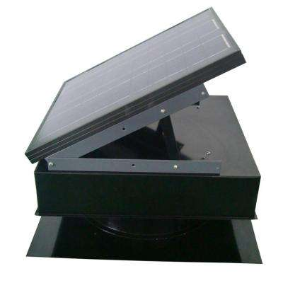 25-Watt 1450 CFM Black Solar Powered Attic Fan