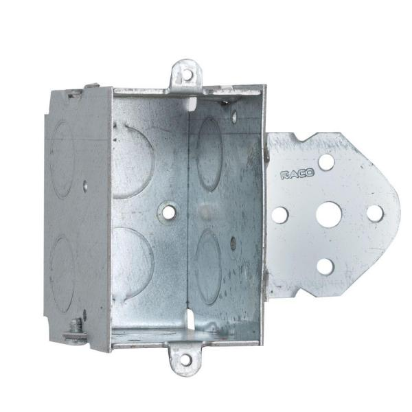 2-1/2 in. Deep Gangable Switch Box with 1/2 in. KO's and ''B'' Bracket Set Back 5/8 in. (10-Pack)
