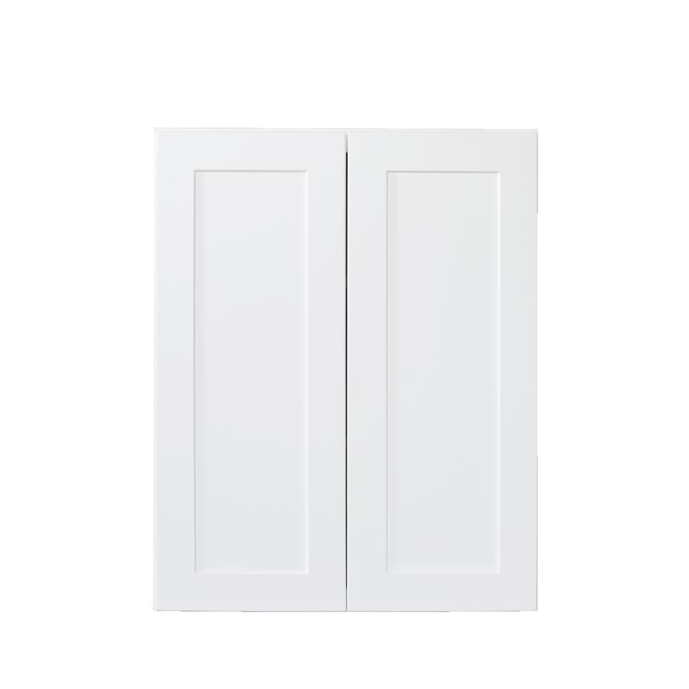 Bremen Ready to Assemble 24x36x12 in. Wall Cabinets with 2 Doors