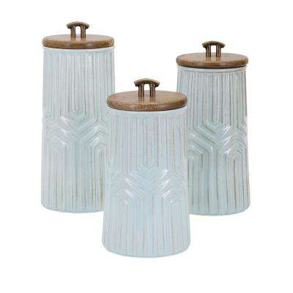 Tia Ceramic Canisters (Set of 3)