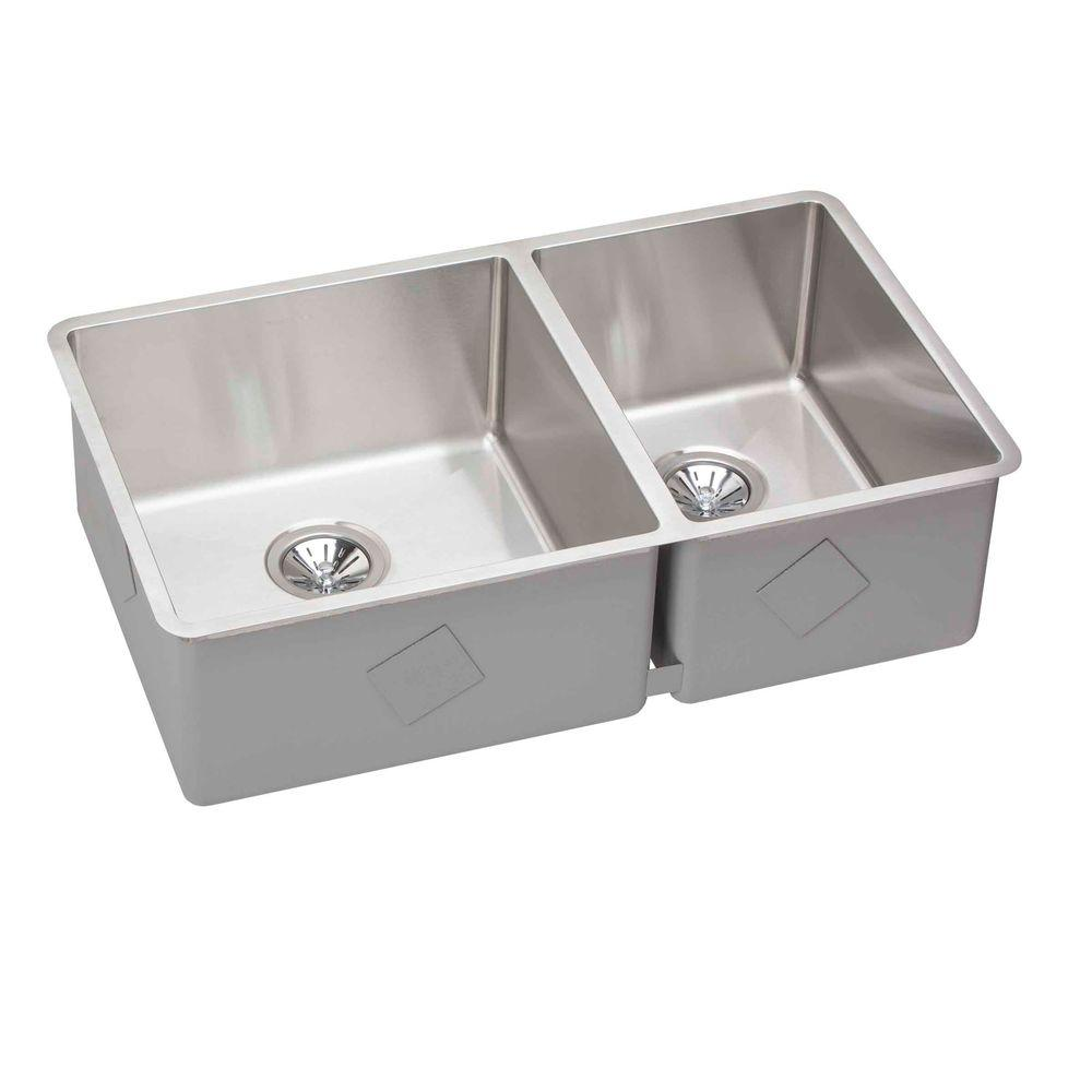 undermount stainless steel kitchen sink elkay crosstown undermount stainless steel 32 in 8738