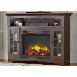 Home Decorators Collection Avondale Grove 48 inch TV Stand Infrared Electric Fireplace in... by Electric Fireplaces
