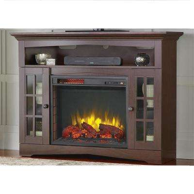 Avondale Grove 48 in. TV Stand Infrared Electric Fireplace in Espresso