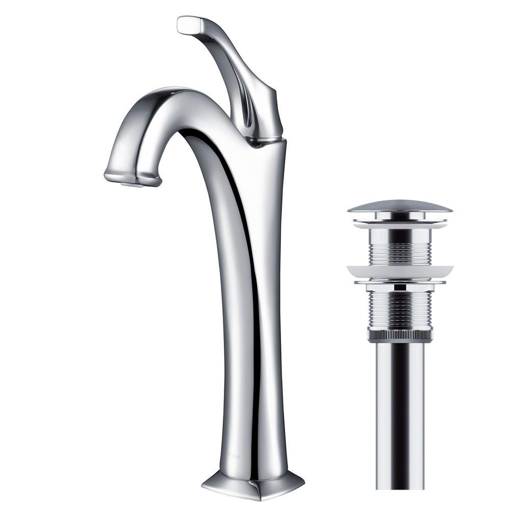 Arlo Single Hole Single Handle Vessel Bathroom Faucet in Chrome